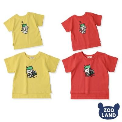 新作☆メール便送料無料<トップス>天竺 フィッシュイーツプリント デザイン 半袖 Tシャツ(80-130cm)GrinLab