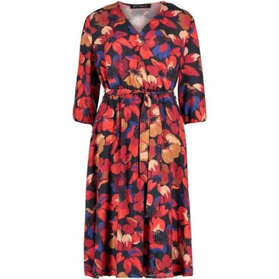 ベティー バークレイ Betty Barclay レディース ワンピース ワンピース・ドレス Floral print midi dress Red/Dark Blue