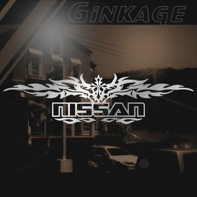 NISSAN ニッサン ステッカー 車 かっこいい 十字架 エンブレム リアガラス用 ステッカー
