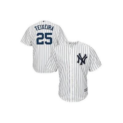 マジェスティック アメリカ USA メジャー リーグ 全米 野球 MLB Majestic Mark Teixeira New York Yankees ホワイト Official Cool Base Player ジャージ