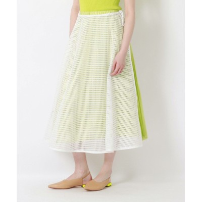 (LOVELESS WOMEN/ラブレス)メッシュコンビスカート/レディース ホワイト