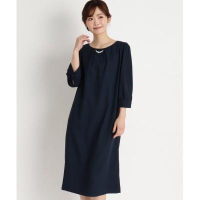 grove(グローブ) パールネックレス付きサックドレス