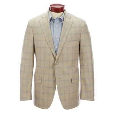 ハート シャフナー マルクス レディース ジャケット・ブルゾン アウター Modern Fit Tan Plaid Wool Sportcoat