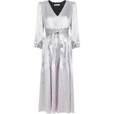 フィロソフィ ディ ロレンツォ セラフィニ Philosophy Di Lorenzo Serafini レディース パーティードレス ミドル丈 Silver Hammered Satin Midi Dress Silver