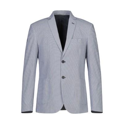 EXIBIT テーラードジャケット ダークブルー 48 コットン 98% / ポリウレタン 2% テーラードジャケット