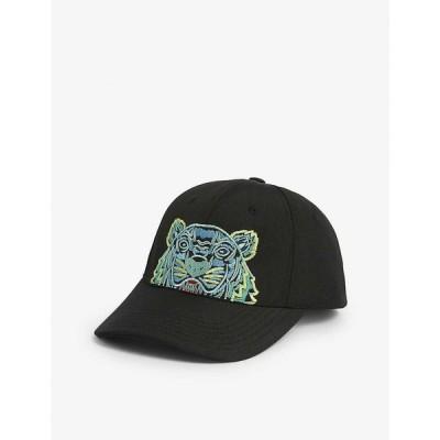 ケンゾー KENZO レディース 帽子 Embroidered tiger cap BLACK