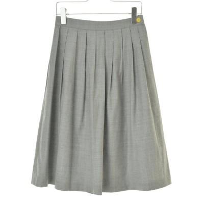 yangany / ヤンガニー ウール混タックロング スカート