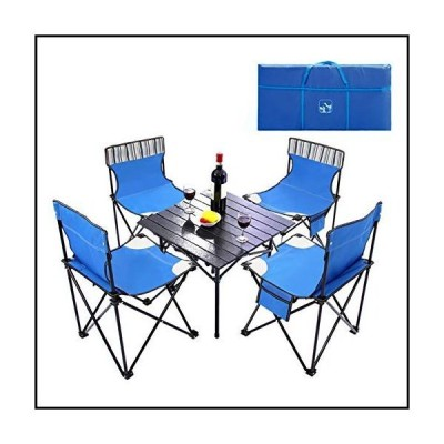 【新品】WGXY Portable Folding Table Chair Five-Piece Camping Outdoor Table and Chair Leisure Table 600D Double Layer Oxford Cloth 13.55M
