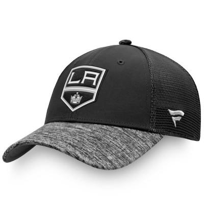 ファナティクス ブランデッド メンズ 帽子 アクセサリー Los Angeles Kings Fanatics Branded Authentic Pro Second Season Trucker Adjustable Snapback Hat