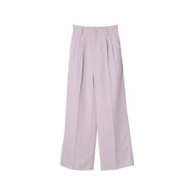 Re:EDIT / [2021S/S COLLECTION][低身長/高身長サイズ有]ハイウエストダブルタックセンタープレススラックスパンツ WOMEN パンツ > スラックス