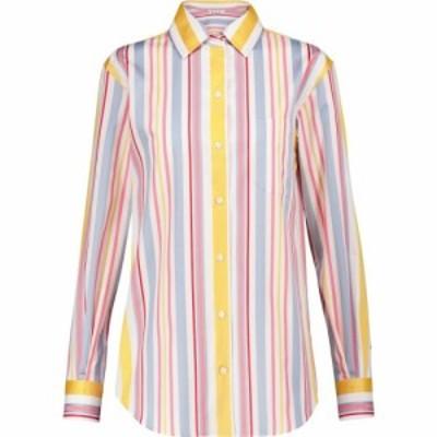 ロロピアーナ Loro Piana レディース ブラウス・シャツ トップス Andre striped cotton poplin shirt