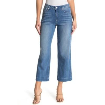 ペイジ レディース デニムパンツ ボトムス Nellie High Waist Culotte Crop Jeans SNOWBUNNY