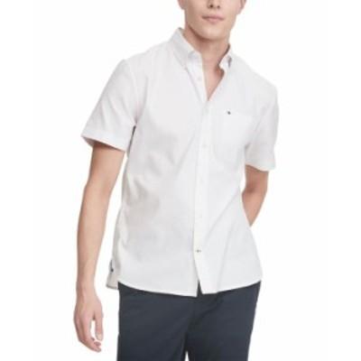 トミー ヒルフィガー メンズ シャツ トップス Men's Custom-Fit Performance Stretch Corey Shirt Bright White
