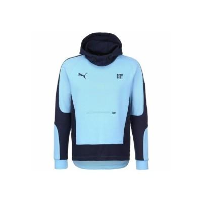 プーマ パーカー・スウェットシャツ メンズ アウター MANCHESTER CITY EVOSTRIPE - Club wear - team light blue / peacoat