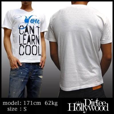 Dirtee Hollywood ダーティーハリウッド メンズ Vネック Tシャツ YOU CANT ホワイト ダーティー ハリウッド DirteeHollywood ブランド セレブ セレカジ アメカジ