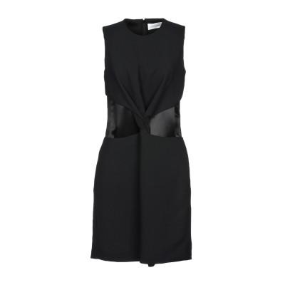 VICTORIA, VICTORIA BECKHAM ミニワンピース&ドレス ブラック 12 100% ポリエステル ミニワンピース&ドレス
