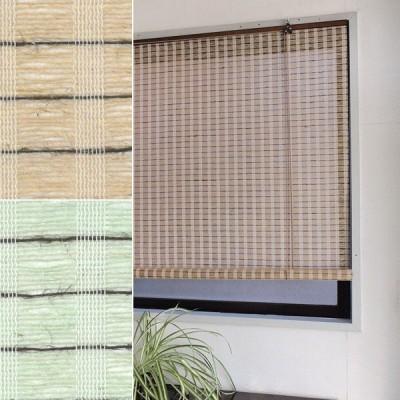 ロールスクリーン 176×135 カーテンレール 取り付け 簡単 掃き出し窓 リビング 麻 和風 おしゃれ / ポイント2倍 / 送料無料