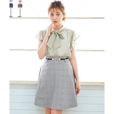スカート ゴムベルト付フレアミニ/スカート