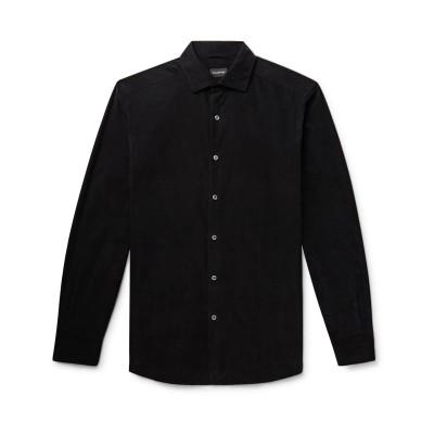 エルメネジルド ゼニア ERMENEGILDO ZEGNA シャツ ブラック S コットン 100% シャツ