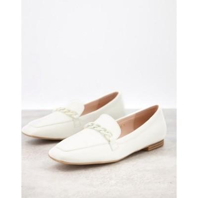 レイド Raid レディース ローファー・オックスフォード シューズ・靴 Artie Loafers With Colour Drenched Trim In White ホワイト