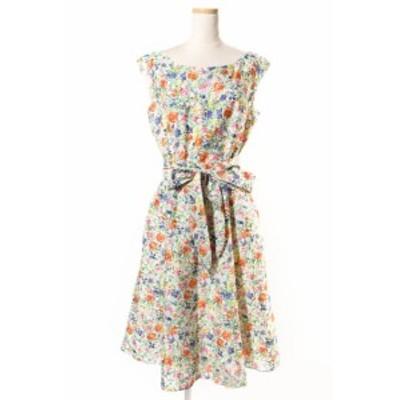 【中古】未使用品 トッカ TOCCA 18SS BLOOMING FLOWER ドレス ワンピース 花柄 4 マルチカラー /yy0426 レディース