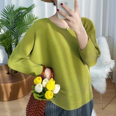 海外輸入アパレル LANMREM Women Blouses Pleated Style 2021 Spring Summer Shirts All-