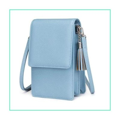 Small Crossbody Bag Shoulder Bags for Women Cell Phone Purse Wallet Lightweight Roomy Travel purse Handbags (Light Blue)並行輸入品