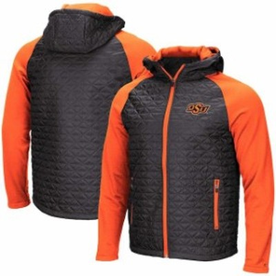 Colosseum コロセウム スポーツ用品  Colosseum Oklahoma State Cowboys Charcoal Base Plate Full-Zip Jacket