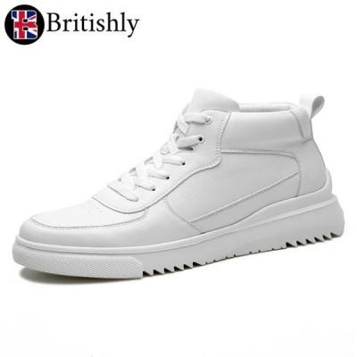 Britishly(ブリティッシュリィ) Portree White 7cmアップ 英国式シークレットシューズ