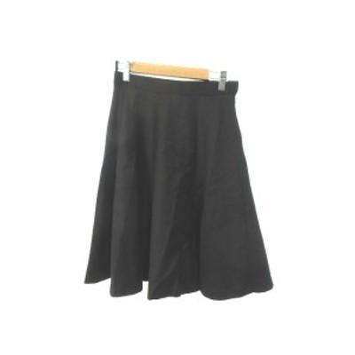 【中古】ロペ ROPE スカート フレア ひざ丈 ウール 36 黒 ブラック /N3N6 レディース