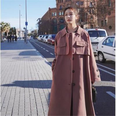 \いまだけの限定特価中🔥 韓国ファッション 2020年初秋 トレンチコート 大人気 ファッション 雰囲気 ゆったりする カジュアル 気質 怠惰な風 中・長セクション