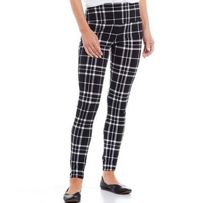 イントロ レディース カジュアルパンツ ボトムス Teri Love the Fit Black/White Plaid Print Leggings