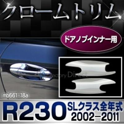 ri-mb661-18(105-05-2D) ドアハンドルインナー用 SLクラス R230(前期後期 2002-2011 H14-H23)MercedesBenz メルセデスベンツ クロームメ