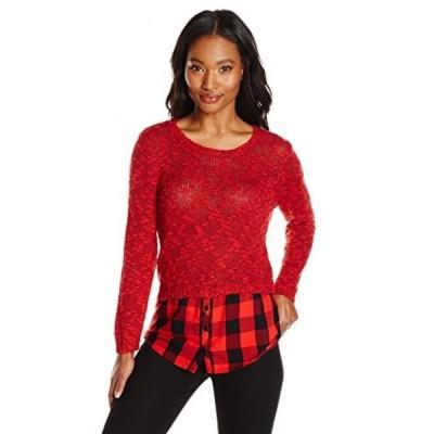 ケンジー レディース セーター(プルオーバー型) Kensie Women's Slub Twist Combo Sweater