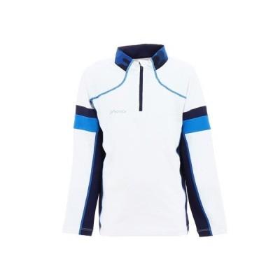 フェニックス(PHENIX) ジュニア ストレッチフリースジップTシャツ PSAG2LS80 WT (キッズ)