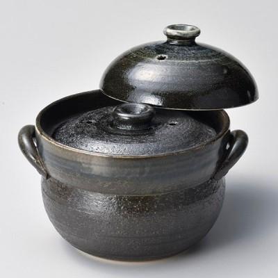 和食器 ス403-107 るり釉ご飯鍋2合炊(中蓋付)