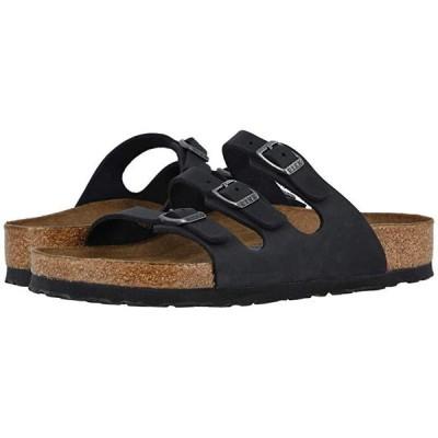 ビルケンシュトック Florida Soft Footbed - Leather レディース サンダル Black Oiled Leather