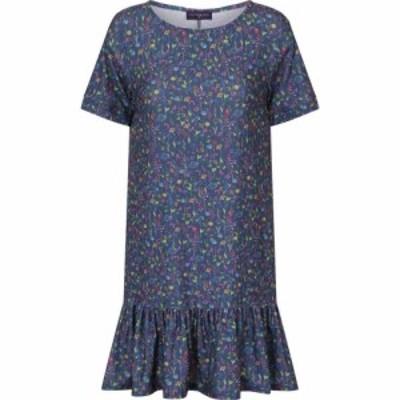 ホットスカッシュ HotSquash レディース ワンピース ワンピース・ドレス Floral Drop Waist Dress Blue