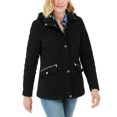 ランドリー Laundry by Shelli Segal レディース ジャケット フード アウター Water-Resistant Hooded Quilted Jacket Black