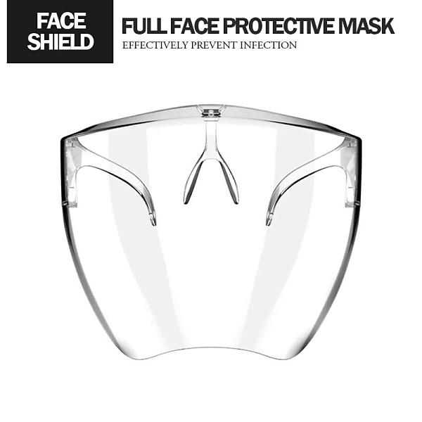 太空全臉防護面罩 180度防護 舒適透氣 護目鏡 防霧氣/防飛沫/防沙塵/防油煙面罩 防疫用品
