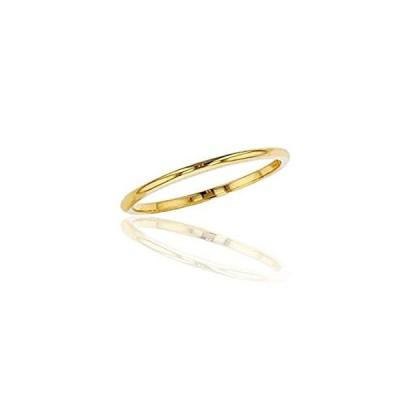 10Kイエロー、ホワイト、ローズゴールド1mmシンプル光沢仕上げ結婚指輪 サイズ4〜14