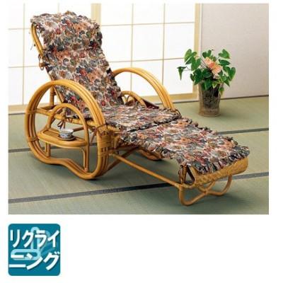 ラタン 籐 デラックスカバー付三つ折寝椅子 A-200CP