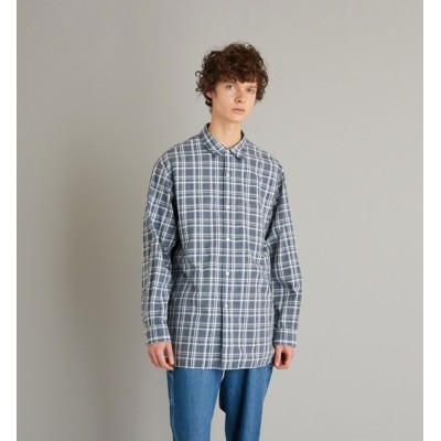 【ビューティアンドユース ユナイテッドアローズ/BEAUTY&YOUTH UNITED ARROWS】 <Steven Alan> LEGGIUNO/CHECK REGULAR COLLAR BOX SHIRT-LOOSE/シャツ