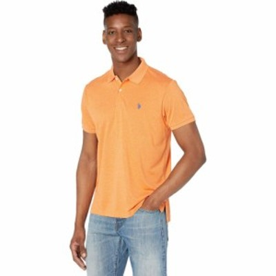 ユーエスポロアッスン U.S. POLO ASSN. メンズ ポロシャツ トップス Marled Poly Polo-41 Canoe Orange