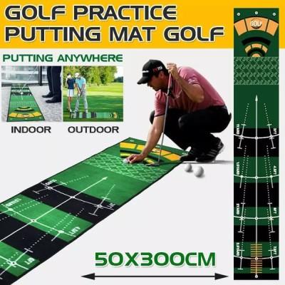 ゴルフカーペットミニパッティングボールパッド練習マットアンチスリップ屋内屋外ゴルフグリーン練習マットマシン洗える