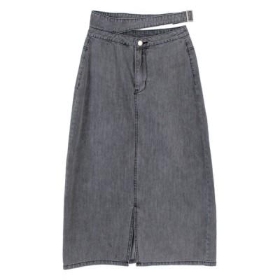 titivate / フロントスリットバックルデザインスカート WOMEN スカート > デニムスカート