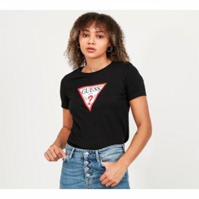 ゲス Guess レディース Tシャツ トップス short sleeve original t-shirt Jet Black