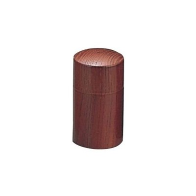 ヤマコー EBM-7746700 ウッドイン 筒型 塩入れ(1ツ穴)ブラウン(15217) (EBM7746700)