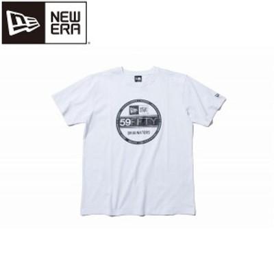 ◆◆送料無料 メール便発送 <ニューエラ> NEWERA コットン Tシャツ バイザーステッカー ホワイト × ブラック レギュラーフィット 1178