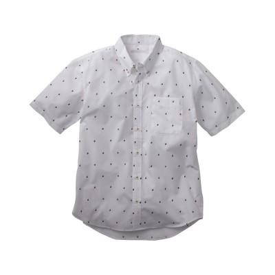 総柄プリント半袖ボタンダウンカジュアルシャツ カジュアルシャツ, Shirts,